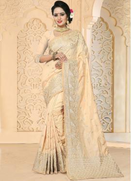 Captivating Beige Art Silk Designer Traditional Saree