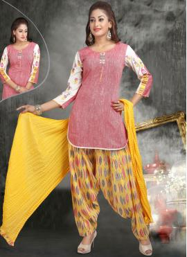Cherubic Cotton   Embroidered Work Readymade Suit