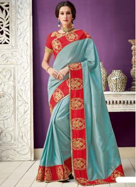 Enchanting Blue Designer Saree