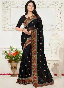 Extraordinary Georgette Black Saree