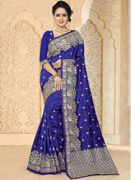 Exuberant Embroidered Work Traditional  Saree
