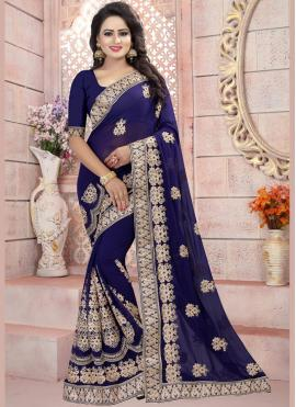 Fine Resham Work Saree