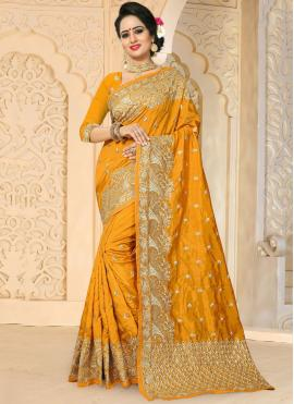 Imperial Art Silk Gold Designer Traditional Saree