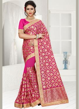 Integral Faux Georgette Classic Saree