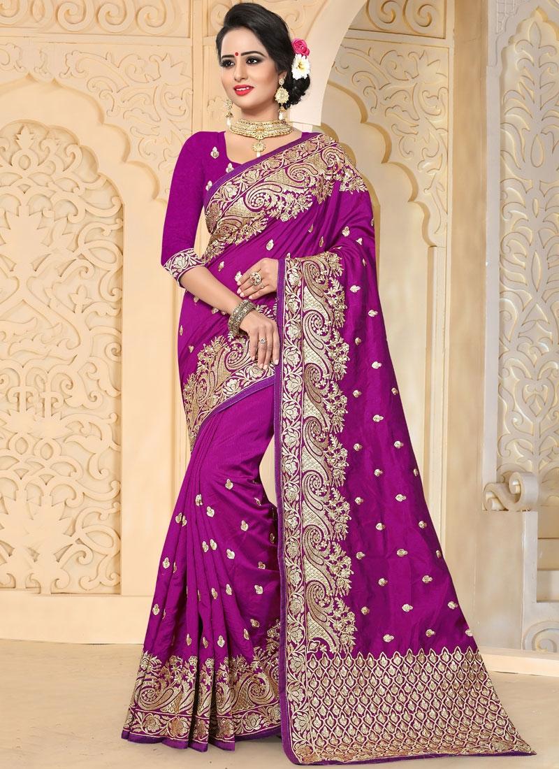Invigorating Art Silk Embroidered Work Traditional Designer Saree