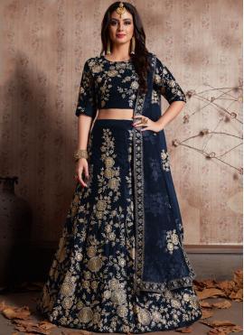 Opulent Silk Embroidered Work Lehenga Choli