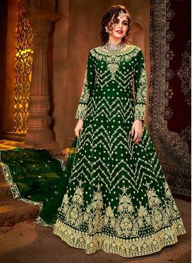 Adorable Resham Floor Length Anarkali Suit