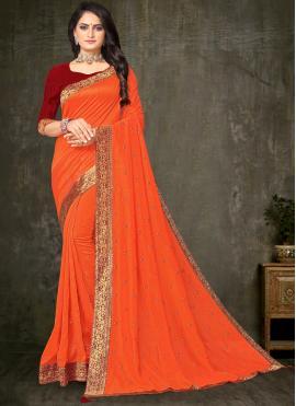 Adorable Silk Trendy Saree