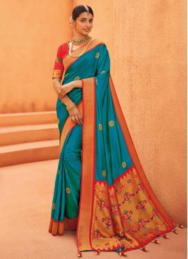 Adorning Blue Traditional Saree