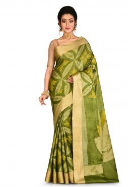 Adorning Green Weaving Banarasi Silk Classic Saree