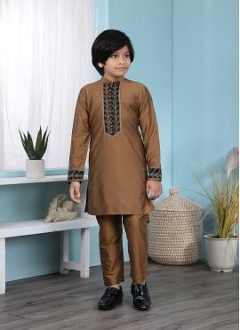Affectionate Cotton Silk Engagement Kurta Pyjama