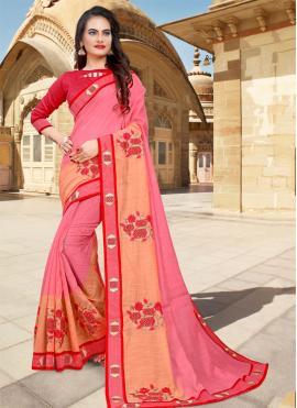 Alluring Embroidered Designer Saree