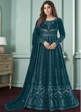 Alluring Georgette Zari Trendy Salwar Kameez