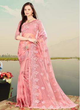 Alluring Net Sangeet Designer Saree