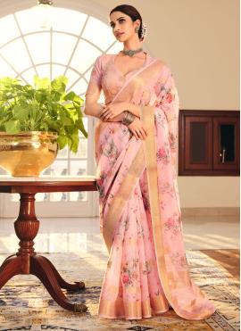Amazing Linen Printed Saree