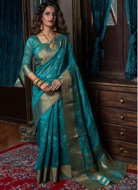 Amazing Weaving Ceremonial Traditional Designer Saree