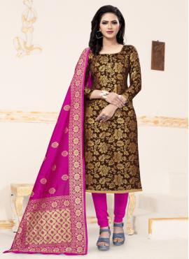 Amazing Weaving Churidar Salwar Suit
