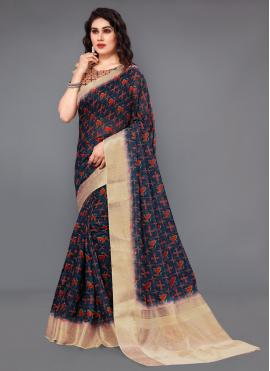Amusing Multi Colour Digital Print Casual Saree