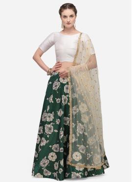 Angelic Satin Silk Green Fancy Lehenga Choli