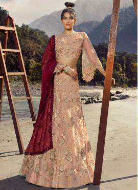 Appealing Pink Thread Lehenga Choli