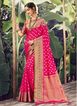 Appealing Rani Silk Designer Traditional Saree