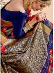 Art Banarasi Silk Woven Traditional Saree in Multi Colour - 2