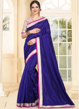 Art Silk Traditional Saree in Blue