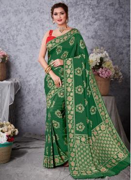 Art Silk Zari Green Traditional Designer Saree