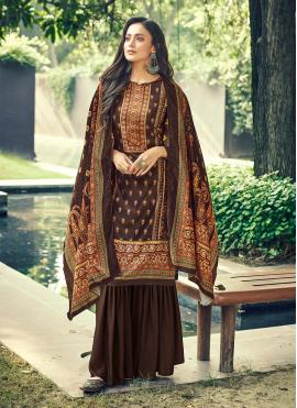 Artistic Digital Print Velvet Designer Pakistani Salwar Suit