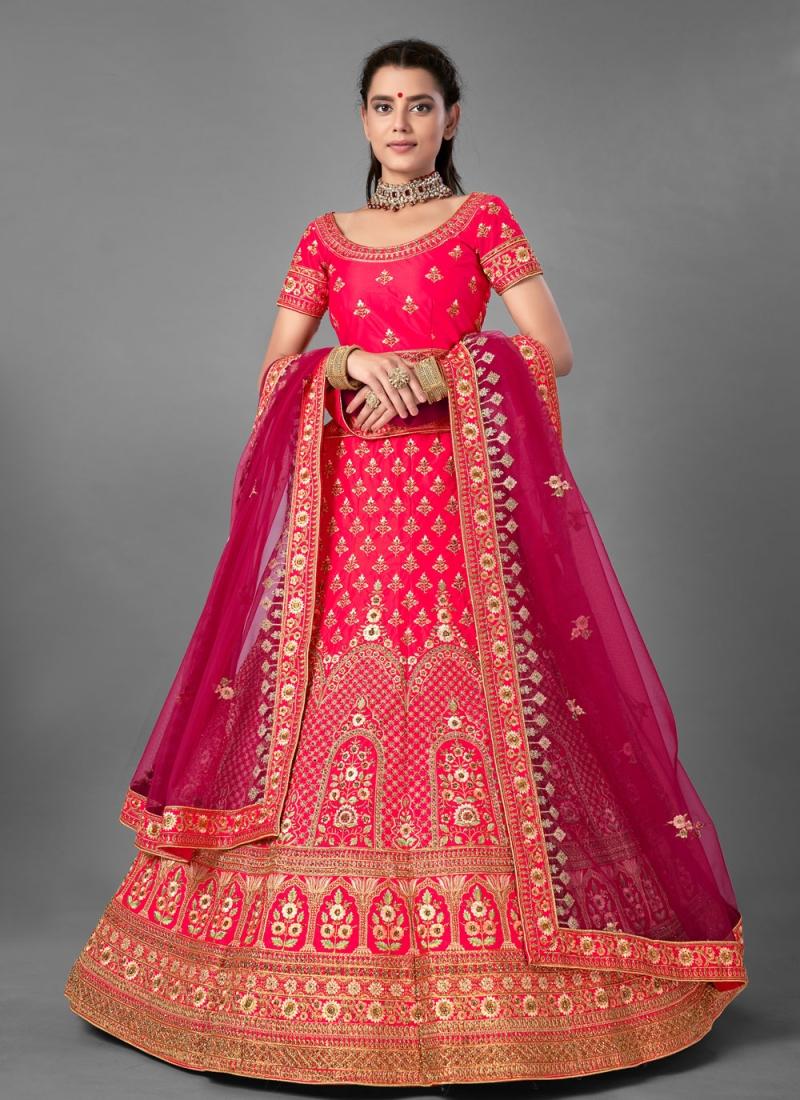 Artistic Pink Sequins Designer Lehenga Choli