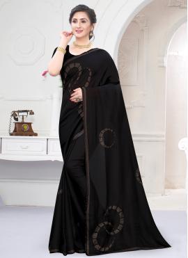 Aspiring Black Trendy Saree