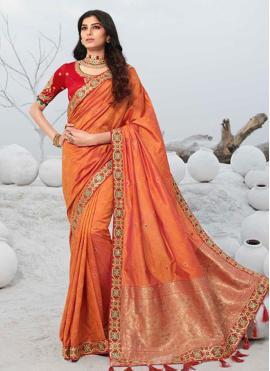 Aspiring Patch Border Silk Designer Saree