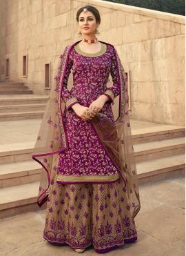 Aspiring Purple Festival Designer Palazzo Suit