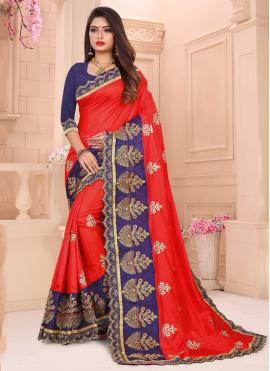 Astounding Embroidered Designer Traditional Saree