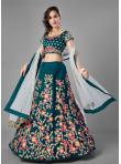 Astounding Rama Velvet Lehenga Choli - 1