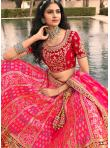 Attractive Banarasi Silk Embroidered Pink A Line Lehenga Choli - 2