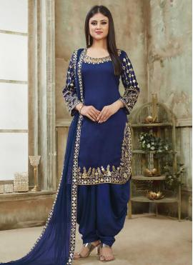 Awesome Art Silk Designer Patiala Suit