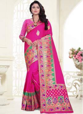 Banarasi Silk Designer Saree in Pink