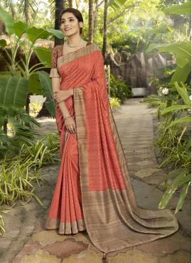 Baronial Printed Silk Traditional Designer Saree