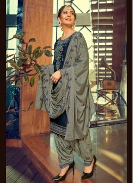 Beauteous Cotton Silk Patiala Suit