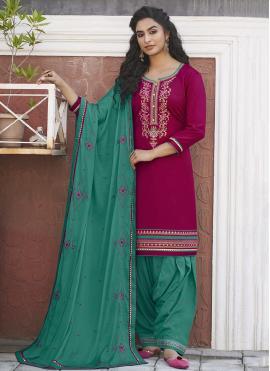 Beauteous Designer Patiala Suit For Festival