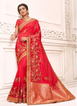 Beauteous Silk Ceremonial Designer Saree