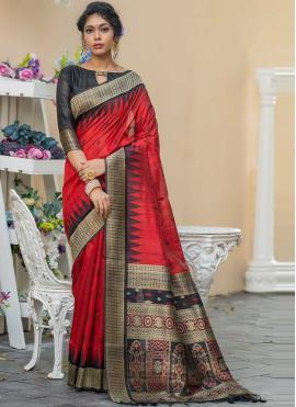 Beauteous Weaving Red Designer Saree