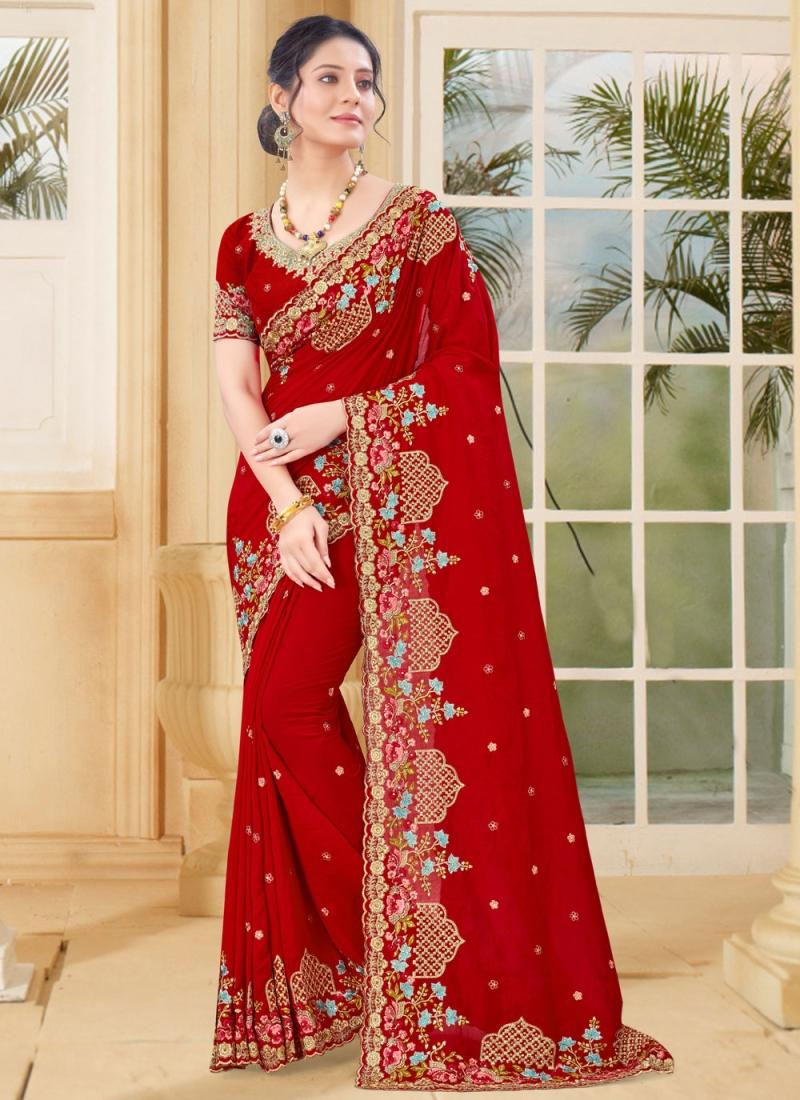 Beauteous Zari Vichitra Silk Designer Traditional Saree