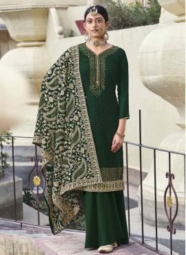 Beautiful Designer Palazzo Salwar Suit For Festival