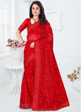 Beautiful Net Resham Classic Designer Saree