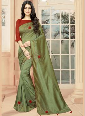 Beckoning Embroidered Classic Saree