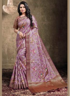 Beckoning Jacquard Multi Colour Bollywood Saree