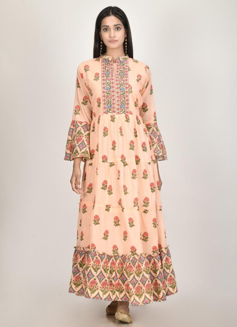 Beckoning Print Cotton Silk Designer Kurti
