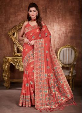 Beckoning Tussar Silk Zari Designer Traditional Saree